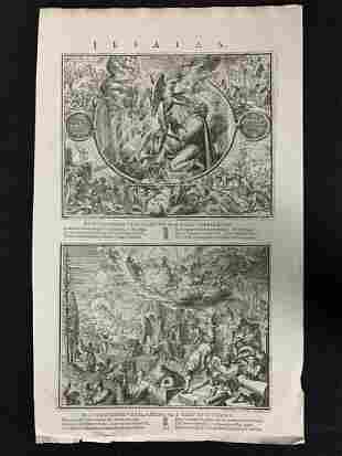 18th C Dutch Biblical Engraving Jesaias De Hooghe