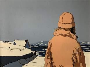 Denis Tremblay Oil On Canvas, Le Frere De Mathieu