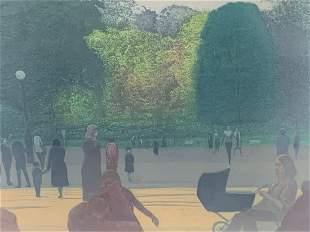 Harold Altman Colored Etching Jardin 1976
