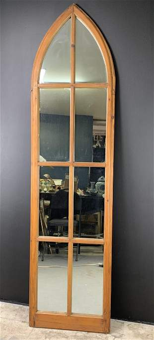 Antique Church Gothic Window Mirror