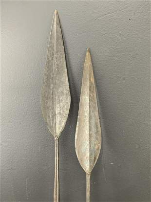 Lot Of 2 African Hunting Spears, Maasai