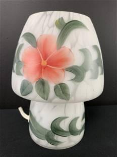 Murano Hand Painted Mushroom Lamp