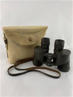 Ww2 Canadian Military Binoculars, Canvas Case