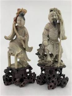 Lot of Chinese Carved Stone Figures