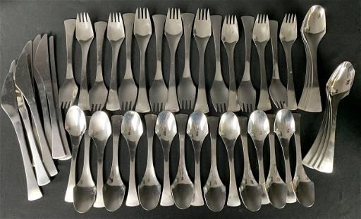 39 Pcs Mcm Lundtofte Denmark Largo Cutlery