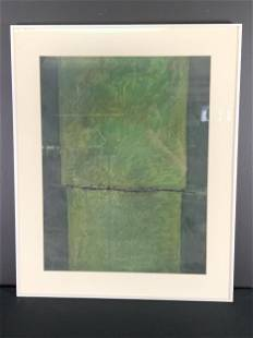 Signed Morin, Mixed Media On Paper, Abstract