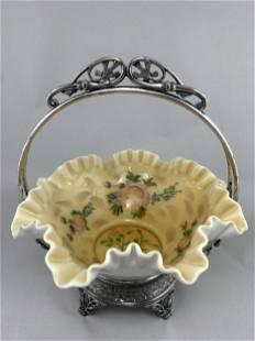 Antique Simpson Miller And Hall Bride Basket