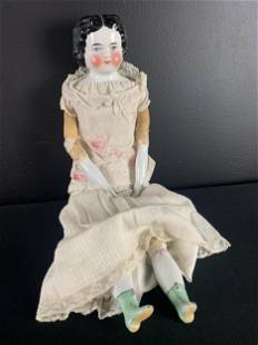 Large German Porcelain Hertwig Style Doll