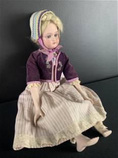 Germany Bisque Porcelain Doll C, Fine Feet & Hands