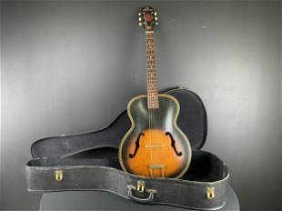 Vintage 1960s Harmony Arch Top Acoustic Guitar
