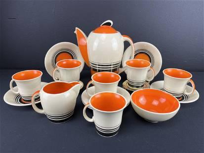Susie Cooper Art Deco Kestrel Coffee Set For 6