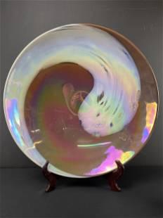 Large Murano Swirl Art Glass Centrepiece