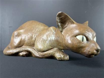 Large 1970s Lladro Siamese Cat By Juan Huerta