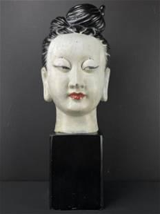 Large 1960s Hollywood Regency Buddha Head