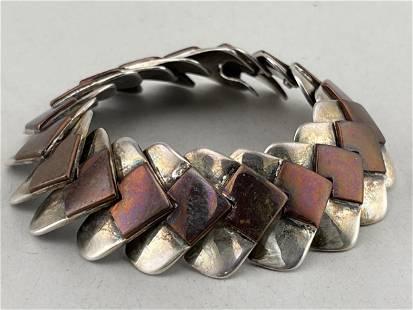 Vintage Sterling & Copper Hector Aguilar Bracelet