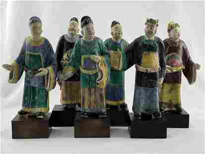 Lot of 6 Chinese Figurines / Wise Men