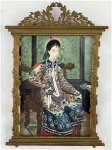 Fine Antique Chinese Miniature Portrait