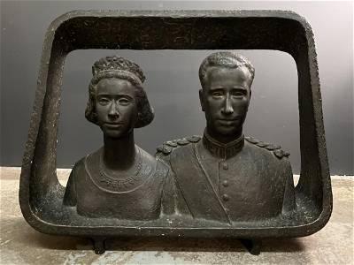 Mark Macken Bronze King Baudouin of Belgium and Fabiola