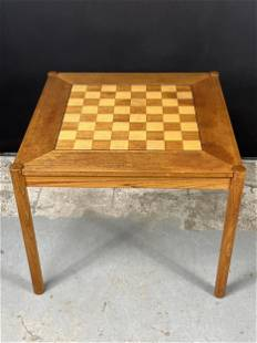 Danish Georg Petersens Teak Flip Top Games Table