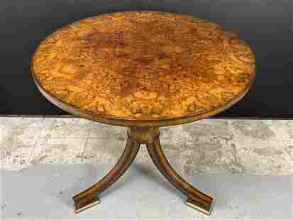 Maitland Smith Burled Walnut Side Table