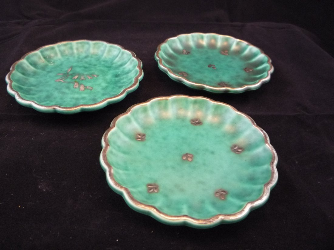 Lot of 3 Scalloped Gustavsberg Argenta Dishes