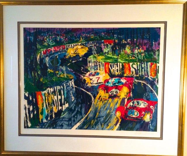Leroy Neiman, Serigraph, 24 Hours at Le Mans