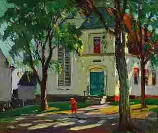 14: Antonio Cirino Painting American Rockport