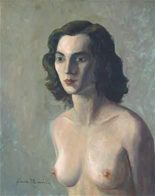 17: Barile Ashcan WPA Nude Painting American