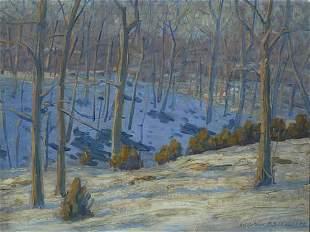 19: Schwartz American Impressionist Painting