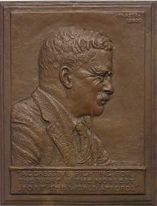 1: James Earle Fraser Bronze Roosevelt Buffalo Nickel