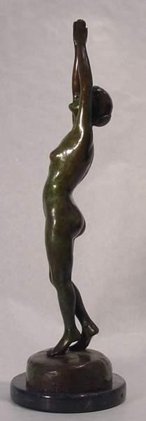 2: Mathewson  Bronze Gorham Nude Sculpture