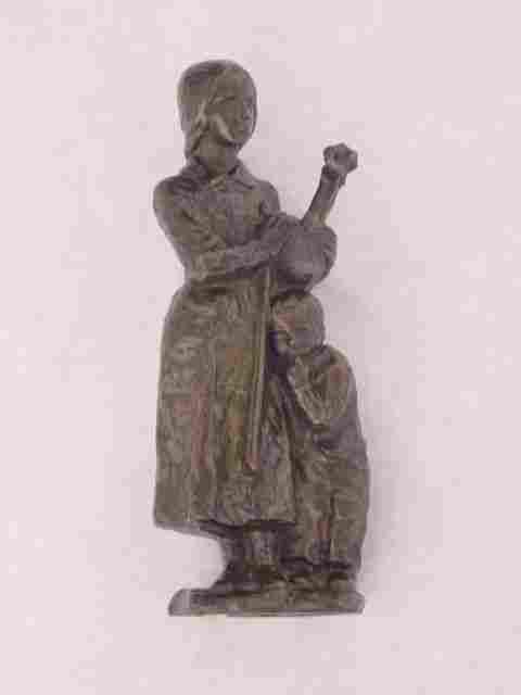 Haag Bronze American Mother Child Sculpture
