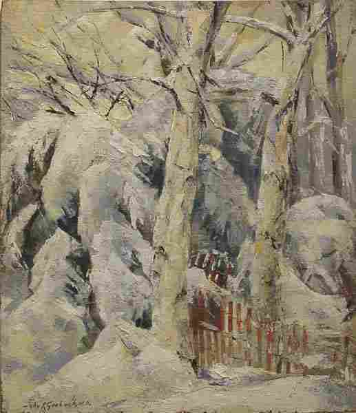 Grabach American Painting Winter Snow