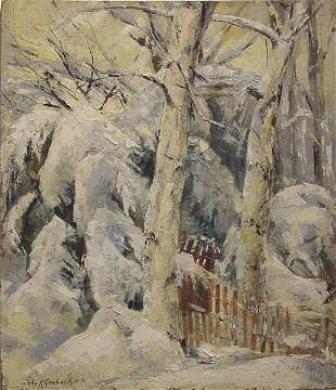 14: Grabach American Painting Winter Snow