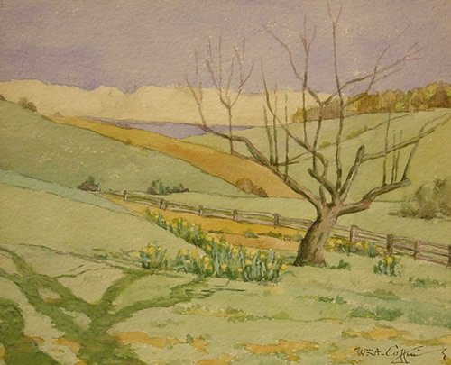 19: American Painting Spring Watercolor