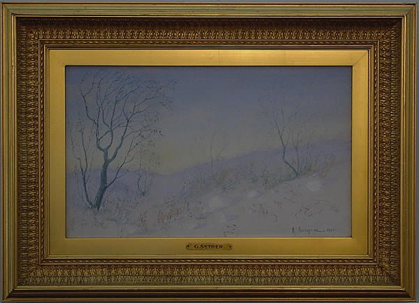 23: Sether American Norwegian Painting Gilded Frame