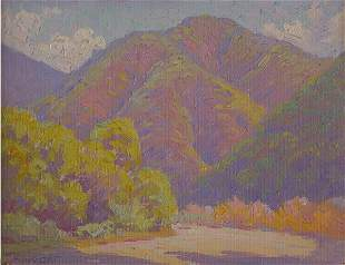 Albright Painting California Monrovia Sierra Plein