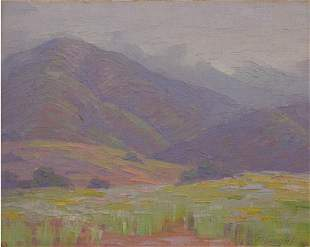 Albright Painting California Sierra Madre Plein-air