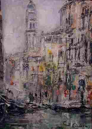 Carlsen American Painting Venice Canal