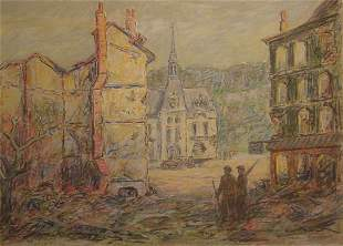 Clime American Painting Chateau Thierry WWI