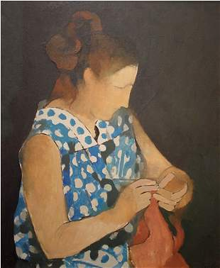 Pipo Spanish Painting Woman Mid-century modern
