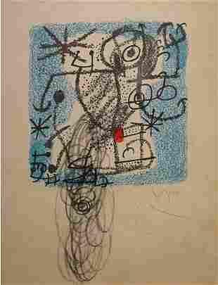 Miro Spanish Lithograph Drawing Modern signed