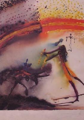 Dali Lithograph Bandillero Surrealism