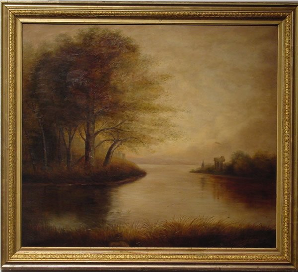 149: Trull American Painting Landscape Signed