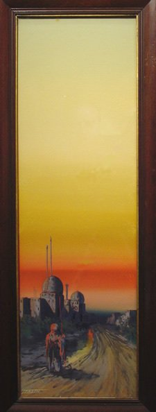 152: Eason American Middle East Sunset Painting