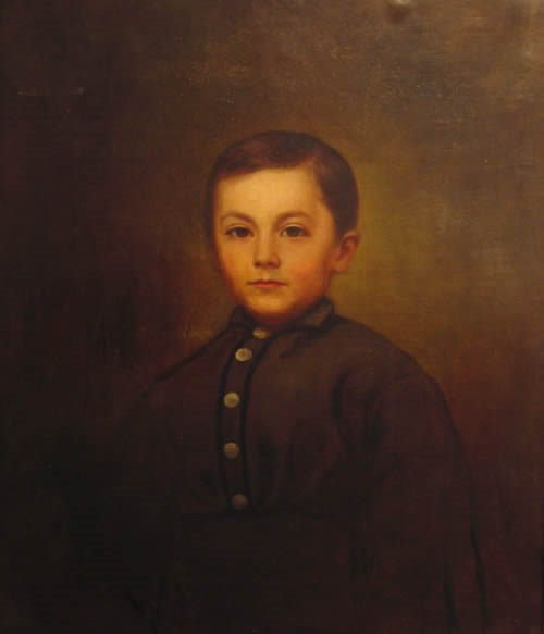 157: American Painting Victorian Portrait 19th century