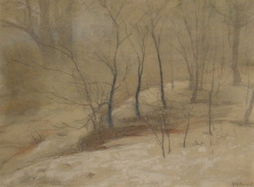 160: Nesmith American Painting Winter Landscape