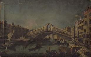 Italian Master Painting Venice Rialto