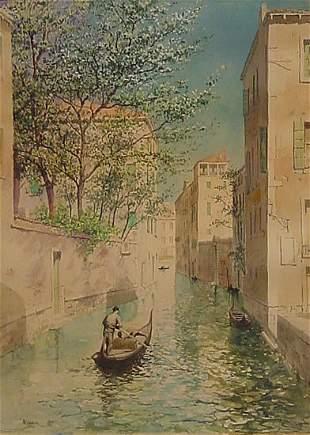 Adams Watercolor Painting Venice American