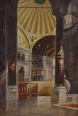 Parrott British Painting Istanbul Byzantine Mosque
